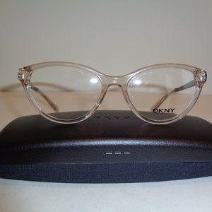 DKNY ODY4671 Beige Crystal Satin Eyeglass Frames